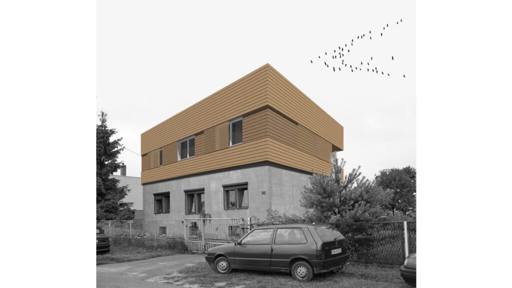 Nadbudowa domu w Mikołowie 01/2009