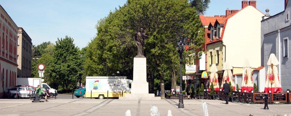 Lokalizacja pomnika św. Wojciecha w Mikołowie 03/2012