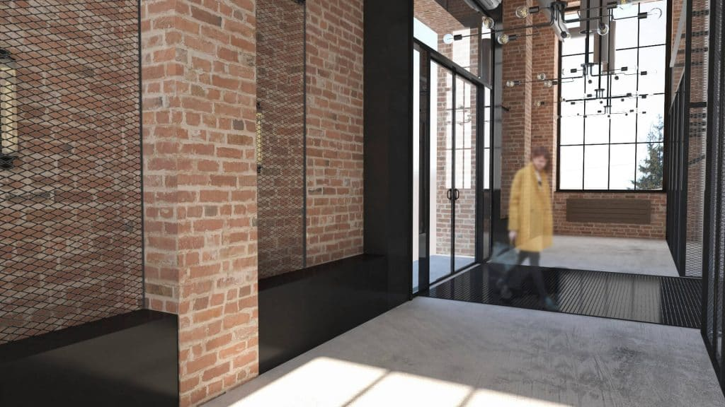 Wnętrza przebudowy hali magazynowej na kantynę pracowniczą 05/2017