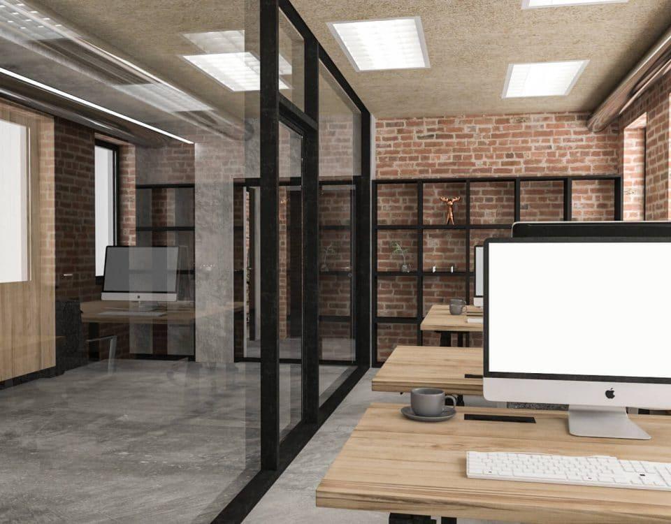 Wnętrza przebudowy istniejącego budynku biurowego 05/2017