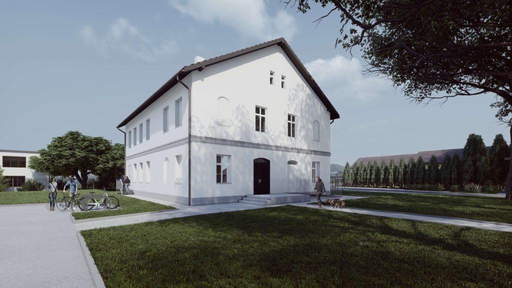 Przebudowa zabytkowego budynku na budynek komunalny wielorodzinny w Kobiórze 02/2020
