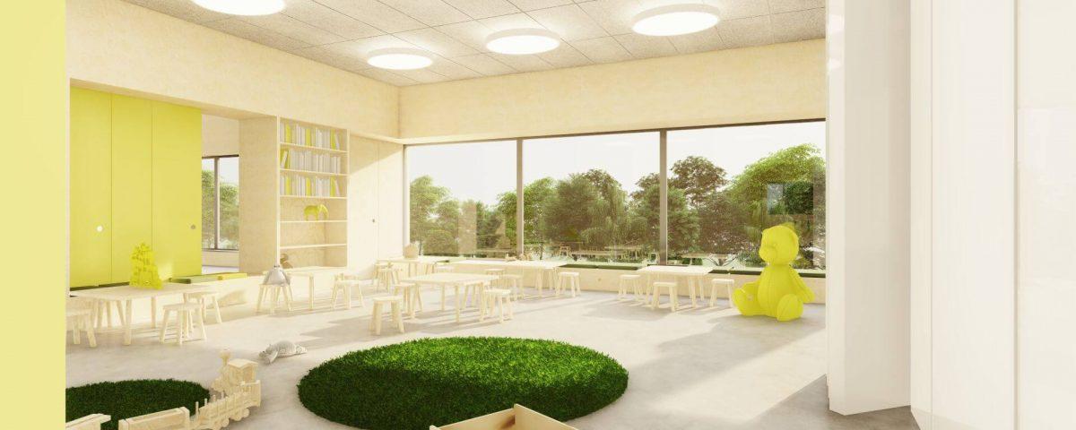 Wnętrza przedszkola w Michałowicach 01/2021