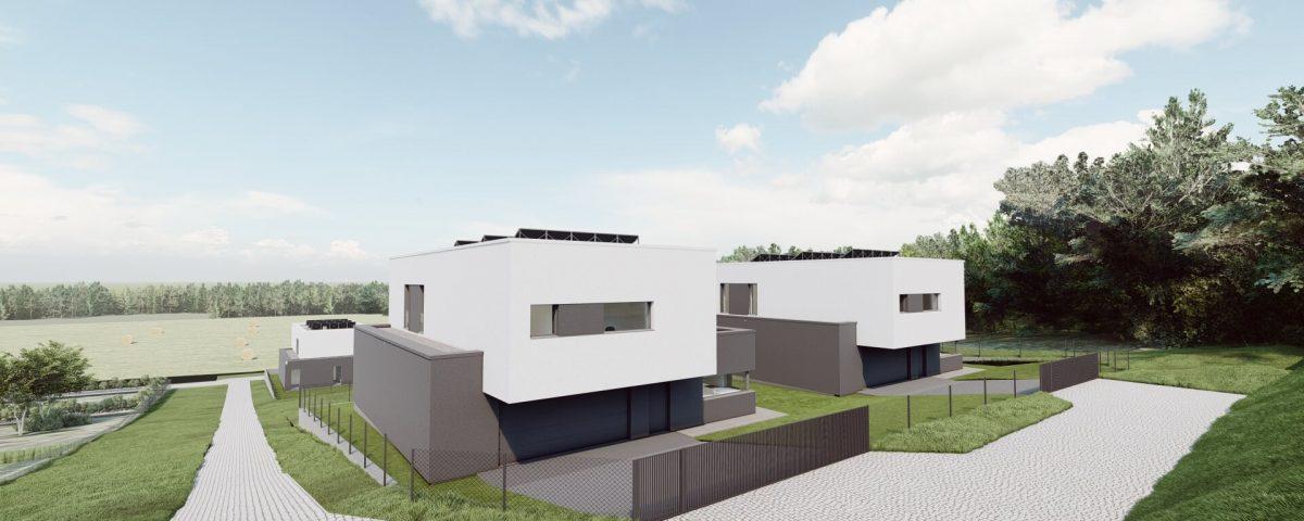 Cztery domy w Łaziskach 06/2021