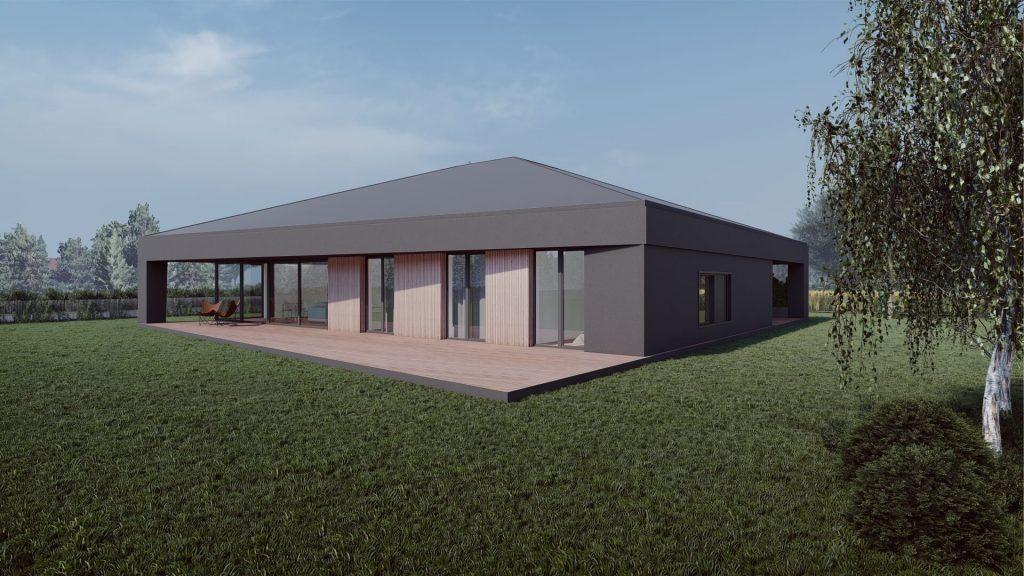 Dom z naciągniętym dachem 02/2021